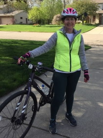 Terrie and her new bike